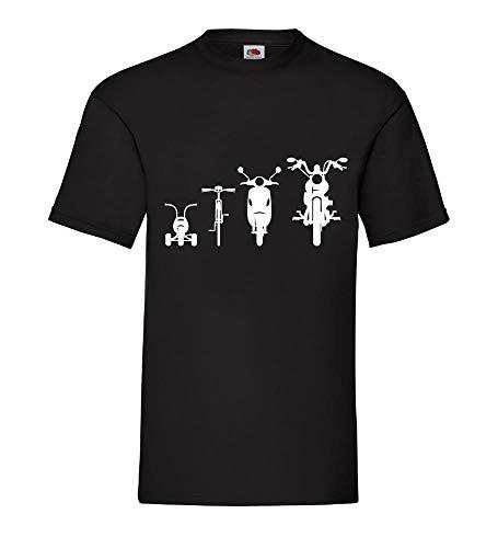 Motorrad Chopper Evolution Front 2.0 Männer T-Shirt Schwarz 3XL - shirt84.de