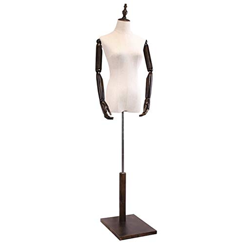 Barture Maniquí De Costura, Altura Ajustable Busto De Señora Brazo Desmontable for Exhibir Ropa (Color : Square Base, Size : M)