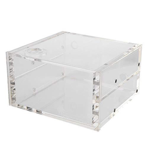 M ugast Wasserkühltank, 1,25 l Volltransparenter PC-Wasserkühltank-Kühlbehälter aus Acryl, Computer-CPU-Wasserblockkühler