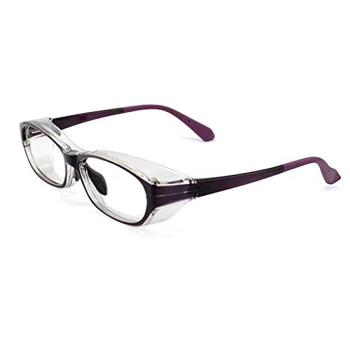 QCLU Stuifmeel veiligheidsbril, anti hooikoorts bril voor man en vrouwen, anti-stuifmeel anti-blauw licht bril Goggles oogbescherming kenmerken, zijschermen beschermende brillen (Color : Purple)