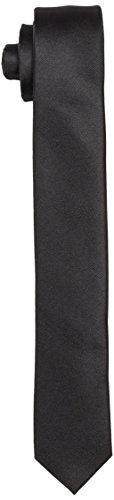 SELECTED HOMME Herren SHDPLAIN TIE NOOS Krawatte, Schwarz (Black Black), One Size