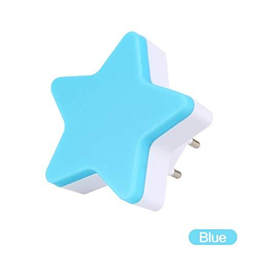 FuYouTa Control de sensor LED luz nocturna Luz de noche LED en forma de estrella Lámpara de mesita de noche para dormitorio infantil.Decoración LED en forma de estrella para luz nocturna para bebés.