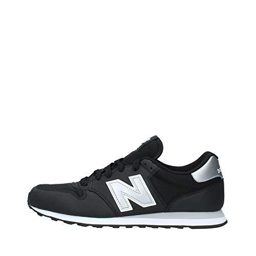 New Balance Herren GM500 Sneaker, Schwarz (Black/silver/GM500KSW), 43 EU
