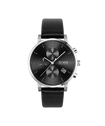 Hugo Boss Chronograaf Quartz Horloge voor heren met lederen band 1513777