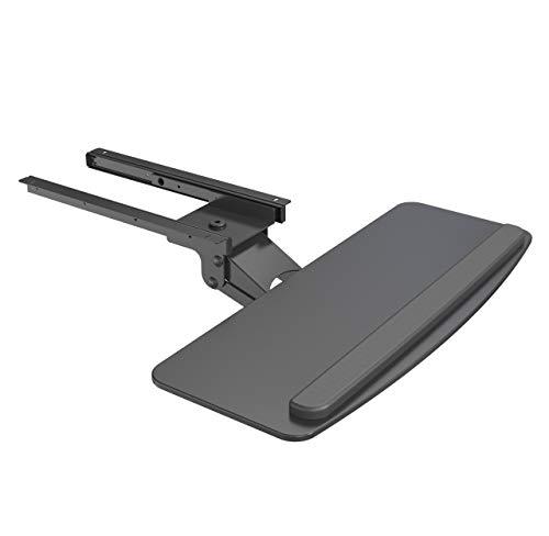 "Seville Classics Airlift 360 Adjustable Sliding Ergo Keyboard & Mouse Tray Computer Desk Accessory, 25.6"", Black"