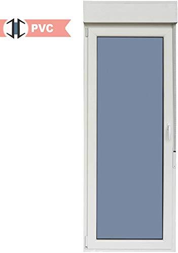 Balconera PVC Practicable Oscilobatiente 1 hoja apertura Izquierda 800 ancho x 2185 alto con persiana