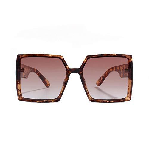 JINZUN Gafas de Sol cuadradas Gafas de Sol cuadradas de Moda Gafas de protección UV para Exteriores Gafas de Sol de Tendencia Carey
