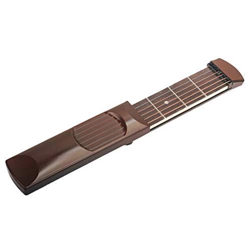 MILISTEN Herramienta de Práctica de Guitarra Acústica de Bolsillo 6 Traste 6 Cuerdas de Bolsillo de Cuerda de Guitarra Entrenador de Cuerda de Guitarra de Aprendizaje para