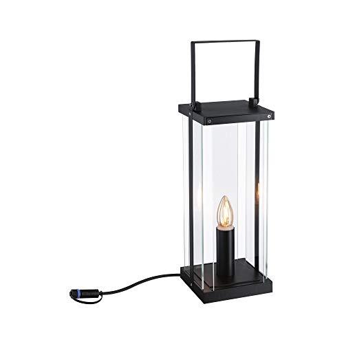 Paulmann 94318 Plug & Shine LED Außenleuchte Outdoor Classic Lantern 40cm 24V IP44 E14 Anthrazit Außenleuchten Aussenleuchten Gartenbeleuchtung 1900K