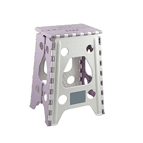 ZOYAFA Reposapiés portátil taburete de plástico para el hogar, baño, cocina, jardín, camping, taburete bajo, antideslizante (color A2)