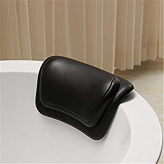 Bath Pillow-Bathtub mat,Suction Cup Bath Pillows for tub Neck Support,spa Bath tub Pillows for Head and Back (Black)