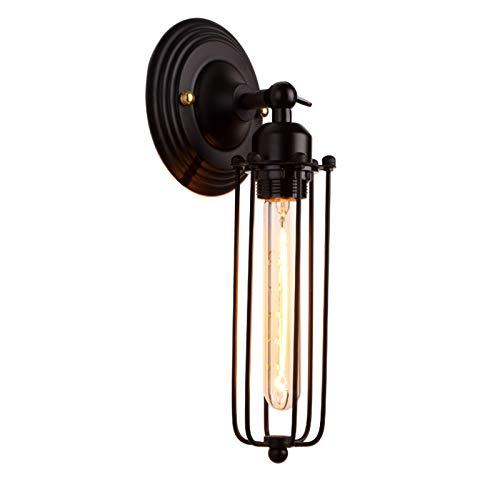 BUNUMO Lámpara Industrial Vintage Tipo Loft,Lámpara De Pared Ajustable Brazo Metal Flauta,Lámpara De Pared Hierro Forjado Led,Lámpara De Noche para Dormitorio Creativa Moderna Decoración Simple
