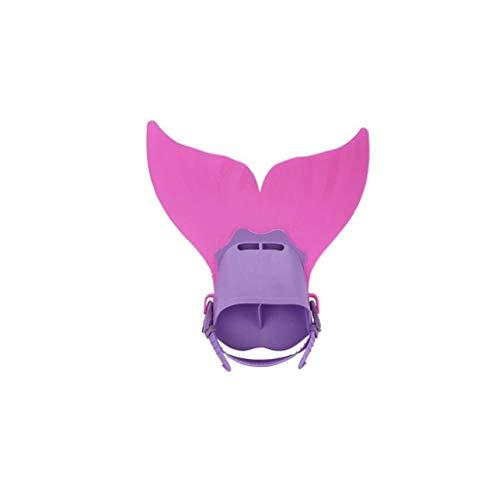 Desde Arriba Niños Snorkel Aletas De Natación Del Traje De Cola De La Sirena Mono Aleta Aletas Snorkel Aletas Para La Formación De Buceo Deporte Al Aire Libre De Agua Rosado 1pc De Alimentación