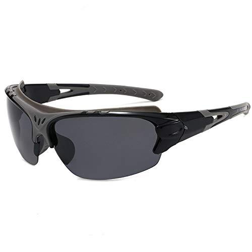 QWKLNRA Gafas De Sol para Hombre Lente Negra De Marco Negro Polarised Sports Sunglasses Cycling Gafas Polarizadas Deportes Al Aire Librelas Gafas De Sol Deportivas De Los Deportistas Mujeres Gafas D