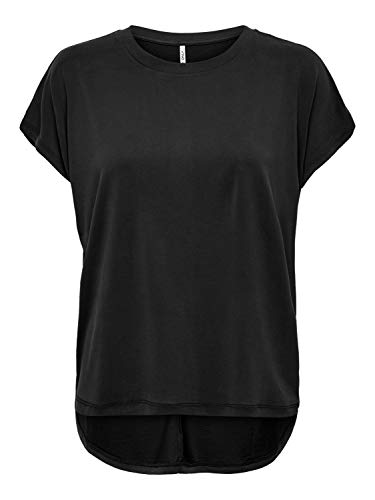 ONLY Damen ONLFREE Life S/S O-Neck TOP NOOS JRS T-Shirt, Black, L