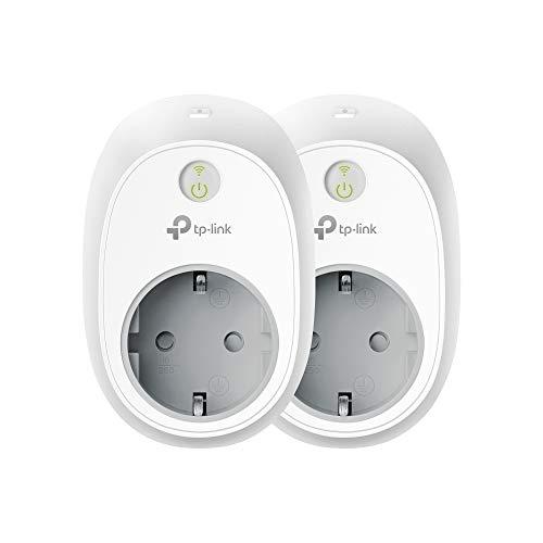 TP-Link Kasa Amazon Alexa zubehör Smart Home WLAN Steckdose HS100 (EU)(funktionieren mit Echo und Echo Dot, Google Home und IFTTT, Fernzugriff, Zeitpläne, Kein Hub erforderlich, Kasa App) 2 pack