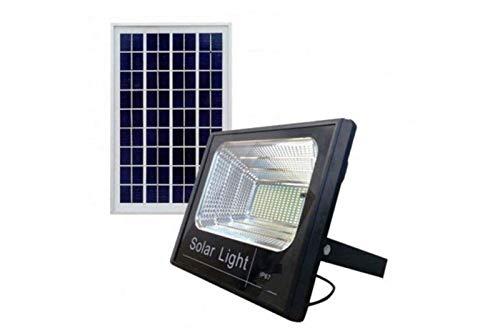 Di Tutto Per Tutti 2 PEZZI FARETTO LED 8200 da Esterno 200W 6500k Bianco Freddo con Telecomando Pannello Solare FOTOVOLTAICO ENERGIA Solare Sole LUCI