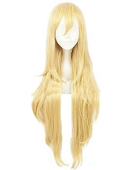 C-ZOFEK Women s Anime Long Blonde Cosplay Wig  Blonde