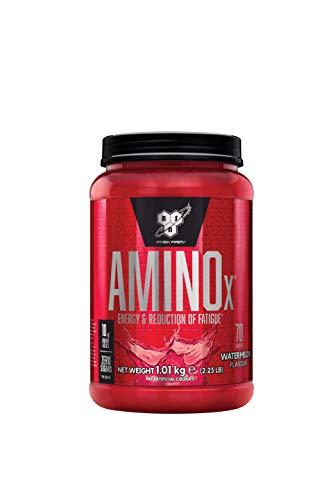 BSN Amino X Verzweigtkettige Aminosäuren (mit Vitamin D, Vitamin B6, Taurin, Alanin und Arginin. BCAA-Pulver von BSN) Watermelon, 70 Portionen, 1 kg