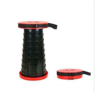 EQVUDJT Portátil Taburete Plegable retráctil para Acampar Altura de Pesca Ajustable - Plástico Inteligente Silla de Asiento Telescopia de plástico para Actividades al Aire Libre (Color : 04)