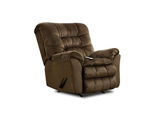 Lane Home Furnishings U678-191 Carmen Umber Rocker Recliner with Heat & Massage, Brown