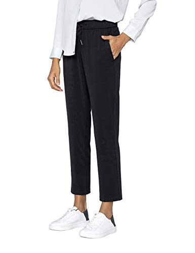 AJISAI 7/8 Travel Pants Joggers with Pockets Lounge Casual Stretch Pants for Women Black S