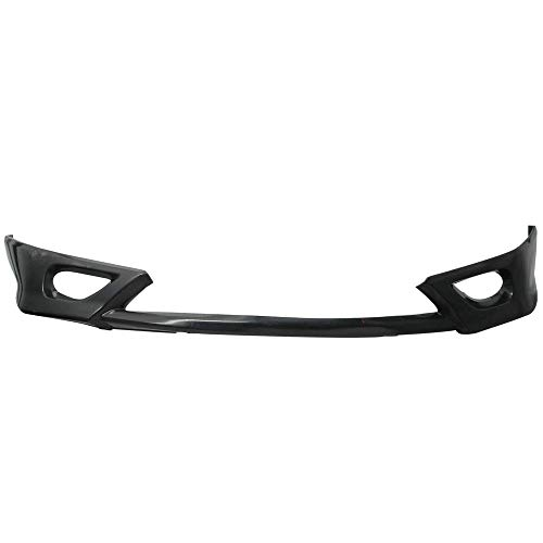 Front Bumper Lip Compatible With 2006-2008 Honda Civic, HF-P Style Black PU Front Lip Finisher Under Chin Spoiler by IKON MOTORSPORTS, 2007