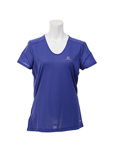 SALOMON Trail Runner SS W Camiseta de Manga Corta, Mujer, Azul (Spectrum Blue), M