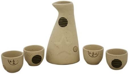Glazed Ceramic 5 Pcs Washington Mall Japanese Factory outlet Sake Set