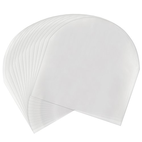 Pllieay 50 Pieces Record Sleeves Inner Plastic Record Cover...
