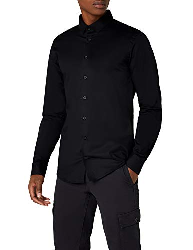 CASUAL FRIDAY 500924 Camisa, 50003 Black, L para Hombre