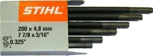Stihl 5605 772 4806 Rundfeile 6 Stück für Sägeketten 4,8 mm für 0.325, 1 W, 1 V
