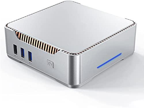 Mini PC Windows 10 Pro, 8 Go DDR3 128 Go eMMC Intel Celeron N3350 Mini PC de Bureau, Mini Ordinateur Soutien 4K HD, HDMI/VGA Port 3, Double WiFi, Gigabit Ethernet, BT4.2…