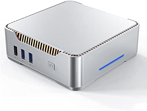 Mini PC Windows 10 Pro, Intel Celeron N3350 Mini Desktop PC 8GB DDR3 128 GB eMMC,...