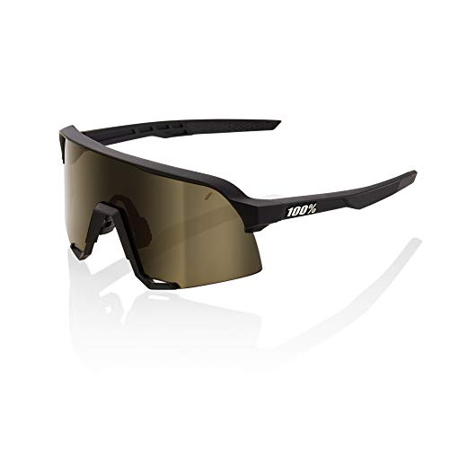 100% S3 Sport Performance Sunglasses (Soft TACT Black - Soft Gold Lens) Sport and Cycling Eyewear