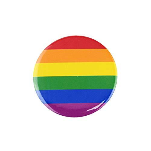 juman634 1,5 Zoll Regenbogen Flagge Knopf Gay Pride Anstecknadel Verwendet Für Taschen, Kleidung, Hüte Holiday Party Supplies
