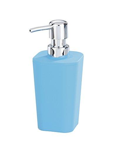 WENKO 18972100 Seifenspender Rainbow Blue - Soft Touch, Fassungsvermögen 0.33 L, Kunststoff - Polystyrol, 8.8 x 17.4 x 7.3 cm, Blau