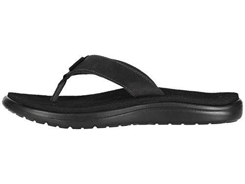 Teva Damen Voya Flip Leather Sandal Womens Zehentrenner, schwarz, 41 EU