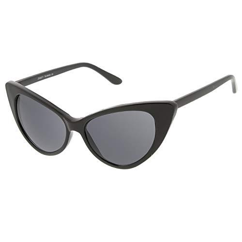 KISS Gafas de sol CAT EYE mod. CHIC NIKITA - fashion MUJER vintage glamour ROCKABILLY - NEGRO