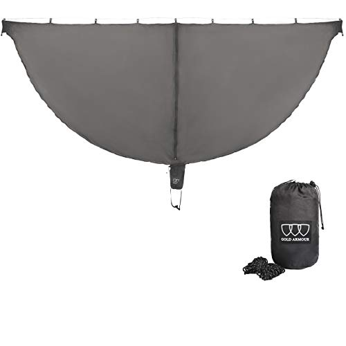 Gold Armour Hammock Bug Net, Guardian Mosquito Net for Bugs, Best Premium Quality Mesh Netting, No See Um and Insects, Perfect Accessory for Your Hammocks (Gray)