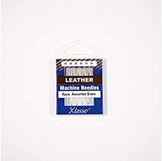 Klasse Leather Needles, Assorted 80 and 90, 1 Pack, 6pcs, AA5104.991