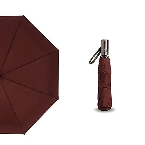 WHDXYM Winddichte compacte automatische opvouwbare regenparaplu voor dames-man-vrouwen mode 2