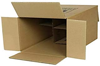 We Can Source It Ltd - 10 x 6 Bottle Wine Box With Dividers - Strong Sturdy Cardboard Carrier Box - Supplied In Flat Packs - Easy and Rapid Build