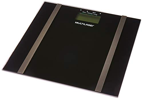 Balança Digital Digi-Health Pro, Multilaser, HC030, Preta