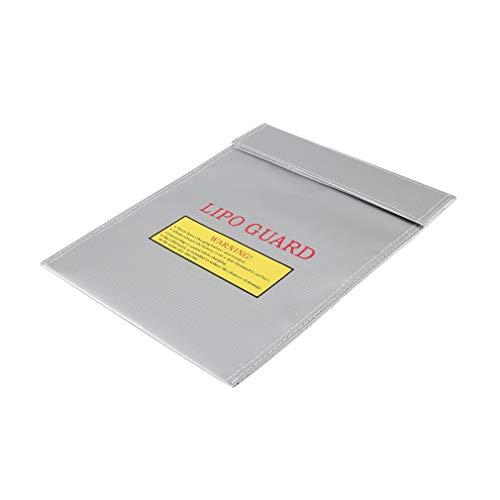 RC LiPo Li-Po Batería Seguridad Estuche a Prueba de Fuego Estuche Safe Guard Saco de Carga Plateado