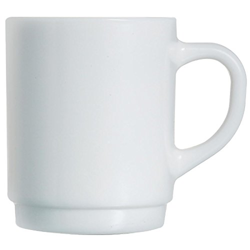 """Arcoroc \""""Hotelerie Blanc Uni\"""" Kaffeebecher - Füllmenge: 0,29 Liter - stapelbar - 6 Stück"""