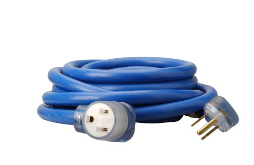 Southwire 19178806 8/3 Heavy-Duty STW 40-Amp/250-Volt Nema 6-50 Blue Welder Extension Cord, 25- Feet, 8-Gauge, STW jacket for Superior Performance, Rated at 40 Amps, 250 Volts and 10,000 Watts