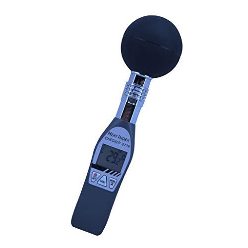 Bonarty Probador de Termómetro de Bola Negra Medidor de índice Térmico de Calor Portátil WBGT AZ-8778, Pantalla LCD Grande Fácil de Leer