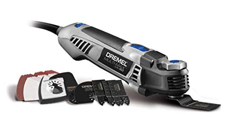 Dremel MM50-01 Multi-Max Oscillating DIY Tool Kit with Tool-LESS Accessory Change- 5 Amp- Multi Tool with 30 Accessories- Compact Head & Angled Body- Drywall, Nails, Remove Grout & Sanding