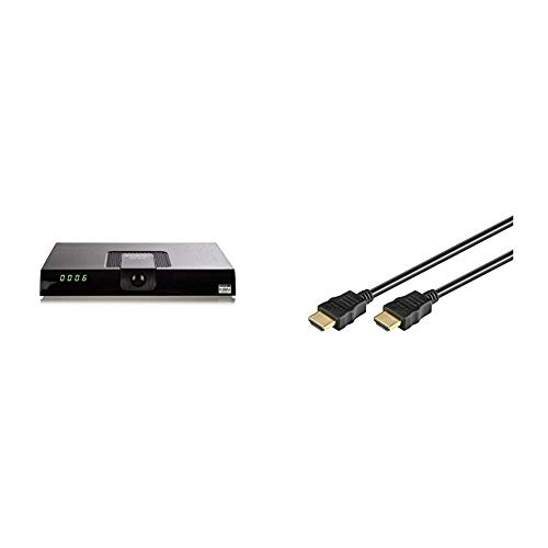 Xoro HRT8720HEVC DVB-T/T2ReceiverSchwarz & Goobay HDMI High Speed Kabel 4K, Ultra-HD, Full-HD, 3D, vergoldete Stecker 1,5 m